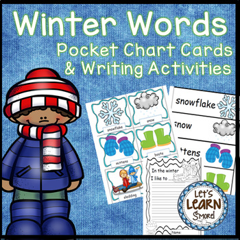 Winter Words Pocket Chart Cards and Writing Activities, January Activities
