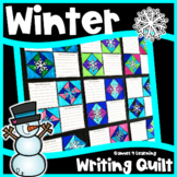 Winter Writing Prompts Quilt: How to Build a Snowman, If I lived in an Igloo etc