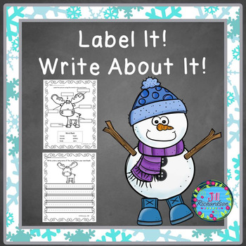 Winter Writing with Labels!  ELL Resources and Special Education