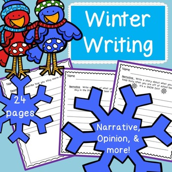 Common Core Winter Writing Elementary (24 Printables)