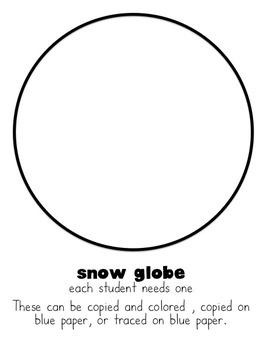 Winter Writing: A Snow Globe Craftivity