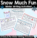 Winter Writing Activities: 10 Snow Much Fun!