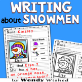 Winter Writing Prompt about Snowmen Activities