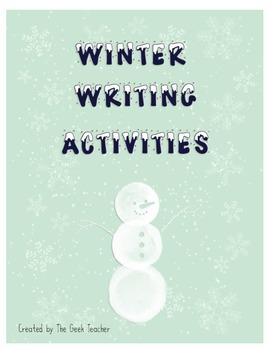 Winter Writing Activities Bundle