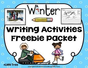 Winter Writing Activities Freebie Packet