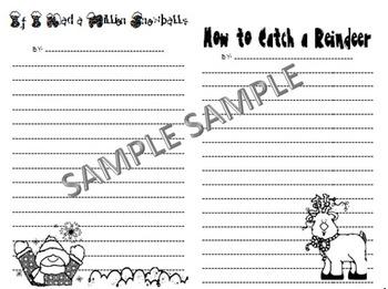 Winter Writing Activities: How to Catch Reindeer/Million S