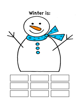 Winter Writing Activities for Special Education