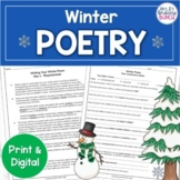 Winter Writing Poetry Activity