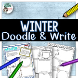 Winter Writing Activity - Doodle and Write