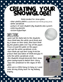 "Winter Writing Activity-""How I got stuck in a snow globe.."""
