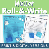 Winter Writing Activity - Roll & Write Center