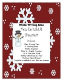 Winter Writing Activity Set for How to Build a Snowman