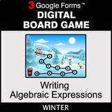 Winter: Writing Algebraic Expressions - Digital Board Game