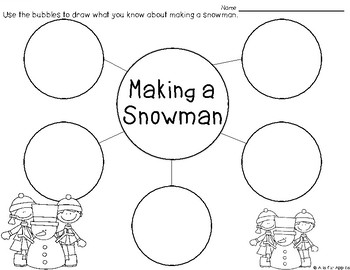 Winter Writing {Bubble Maps & Writing Pages}