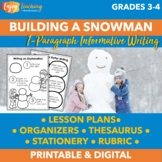 Building a Snowman Winter Writing