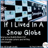 Winter Writing Bulletin Board Activity   Winter Bulletin Board Idea   Snow Globe