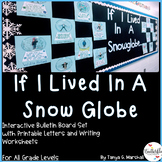 Winter Writing Bulletin Board Activity | Winter Bulletin Board Idea | Snow Globe