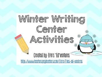 Winter Writing Center Activities