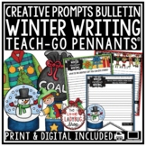 Winter Writing Prompts 3rd Grade 4th Grade -Ugly Sweater, How to Build a Snowman