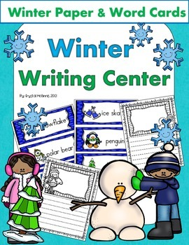 Winter Writing Center! Display Word Cards and Writing Paper