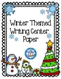 Winter Writing Center Freebie