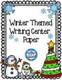 Winter Writing Center Paper