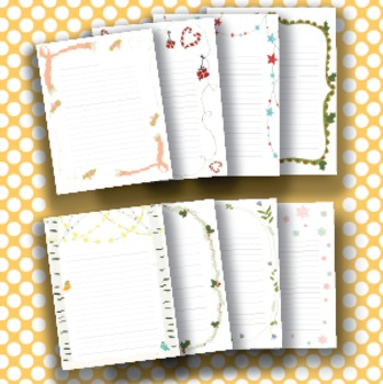 Winter Writing Center - Printable House, Writing Papers, Writing Prompts