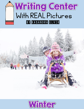 Winter Writing Center with REAL Pictures