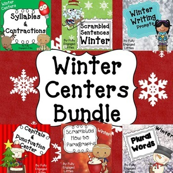 Writing Centers Bundle Winter