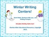 Winter Writing Centers! Common Core Aligned