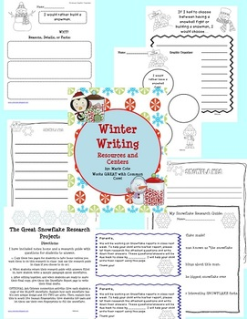 Winter Writing Centers and Resources!