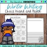 Winter Writing | Choice Board | Paper