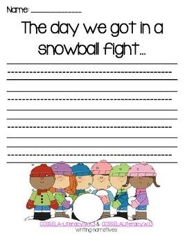 Winter Writing---Common Core---K-1