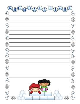 Winter Writing - Creative Writing Stationery