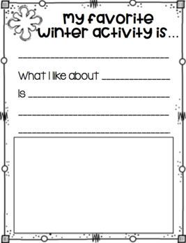 Winter Writing FREEBIE!