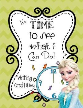 Winter Writing - FROZEN & Elsa / Kristoff Themed!  New Year's Goals!