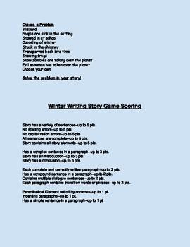 Winter Writing Game