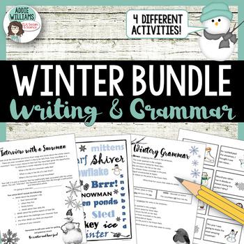 Winter Writing & Grammar Bundle