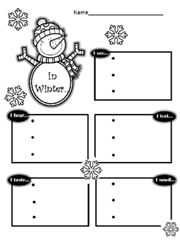 Winter Writing Graphic Organizer