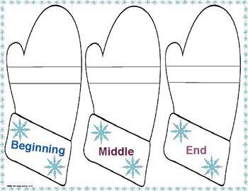 Winter Writing Graphic Organizers for Kindergarten and First Grade
