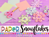 Winter Writing ~ How to Make a Paper Snowflake