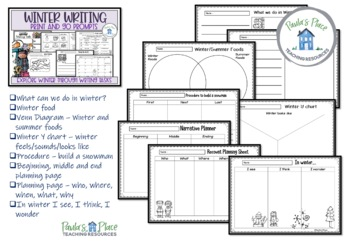 Winter Writing K-2 Print and Go