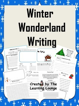 Winter Wonderland Writing Pack Printables