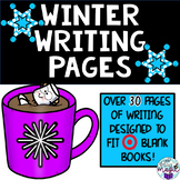 Winter Writing Pages for Target BLANK BOOKS