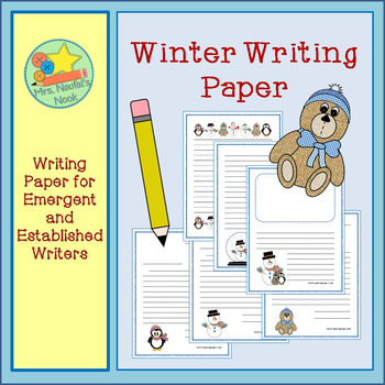 Writing Paper Templates - Winter Theme