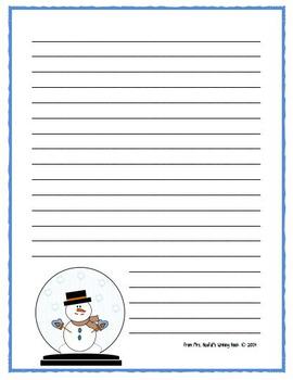 Writing Paper Winter