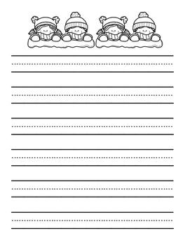 Winter Writing Paper - FREEBIE