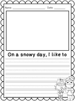 Winter Writing Paper Freebie