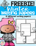 Winter Writing Paper Freebie