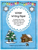 Winter Writing Paper- Lined Stationary with Borders